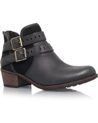 e02950d049a UGG Patsy Leather Ankle Boots in Black - Lyst