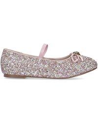 Kurt Geiger Pink Glitter Mary Jane Shoe Ages 8-13