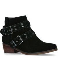 Moda In Pelle - Bethi Black Flat Ankle Boots Moda - Lyst