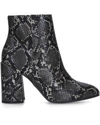 Steve Madden Grey 'therese' Snake Print Block Heel Ankle Boots