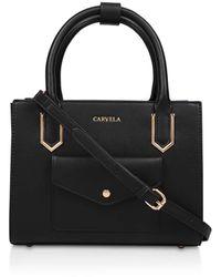 Carvela Kurt Geiger 'caz Pocket Front Mini Tote' Mini Tote Bag - Black