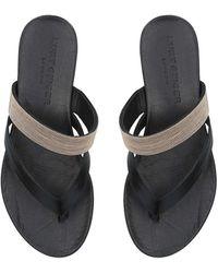 Kurt Geiger Black Flat Sandals