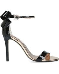 dd31ca85b Ted Baker Sandalo Leather Barely There Heeled Sandals in Black - Lyst