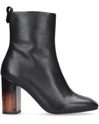 Kurt Geiger Strut Leather Ankle Boots - Black