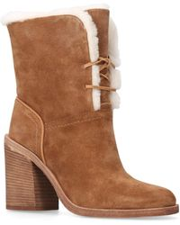 24aff5282fd Jerene Brown Suede Ankle Boots