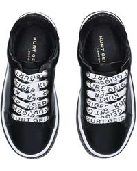 Kurt Geiger Black Logo Lace Up Trainers Ages 2-7
