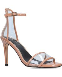 River Island Perspex Barely There Sndl High Heel +60mm Summer Pale Pink