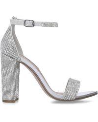 Steve Madden Silver Embellished Sandals - Black