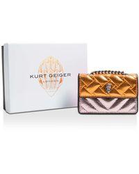 Kurt Geiger Metallic Quilted Micro Bag - Multicolour