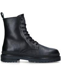 Kurt Geiger Black Leather Lace Up Boots
