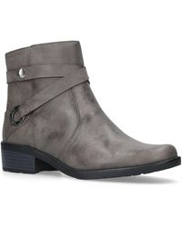Anne Klein Libby Taupe Ankle Boots - Brown