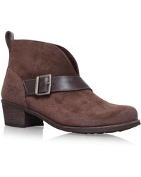 f18d871d0e5 Wright Belted Ankle Boots Dark Brown
