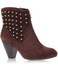 Jessica Simpson Odette Brown Suede Heeled Boots