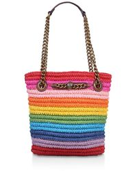 Kurt Geiger Rainbow Raffia Small Tote Bag - Multicolour
