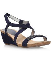 Anne Klein - Jasia2 Mid Wedge Heel Sandals - Lyst