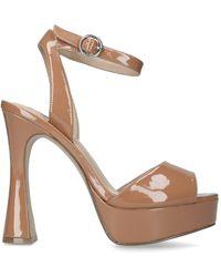 Steve Madden Camel Platform Sandals - Brown