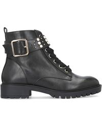 Miss Kg Hatty Black Biker Boot Lace Up Boots