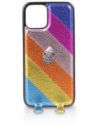 Kurt Geiger Rainbow Phone Case With Chain - Multicolour