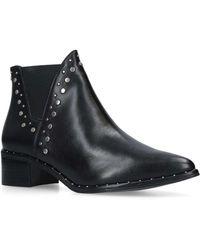 18915057e67 Steve Madden - Ladies Black Asymmetric Stylish Doruss Sm Leather Studded  Ankle Boots - Lyst