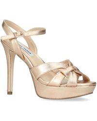 657dadf35926 Steve Madden Kaiden Patent Platform Sandals in Black - Lyst