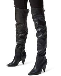 Kurt Geiger Violet High Leg Boots Black