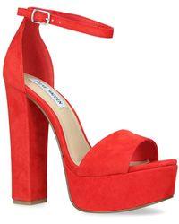 c5666f91ac6 Steve Madden Gonzo Velvet Ankle Strap Block Heel Platform Dress ...