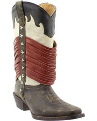 Durango - Dream Catcher Americana Wrapped Fringe Western Boot - Lyst