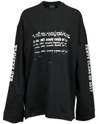 6879a7814428 PUMA - Fenty By Rihanna Long Sleeve Graphic Crew Neck T-shirt - Lyst