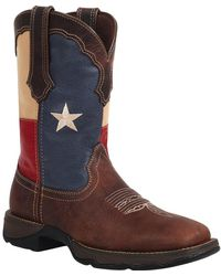 Durango Lady Rebel By Texas Flag Pull-on Western Boot - Brown