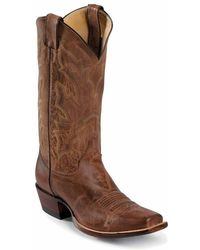 Justin Boots - Tan Distressed Vintage Goat Punchy - Lyst