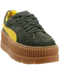 cheaper 33ec9 2f607 Fenty By Rihanna Suede Cleated Creeper - Green