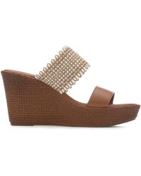 Italian Shoemakers Plum Sandal - Brown