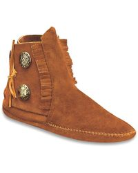 Minnetonka | Two Button Boot | Lyst