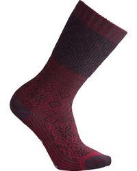 9e301dba672 AKIRA Snowflake Knee High Socks in Burgundy in Brown - Lyst