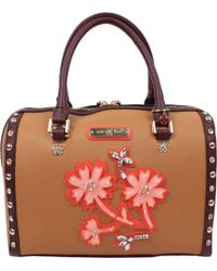 1aaa5c9a4c0d Lyst - Nicole Lee Amaro Flower Embroidery Boston Bag in Red