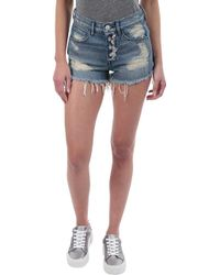 3x1 - Shelter Cut-off Denim Short In Liberty - Lyst