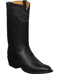 Lucchese Bootmaker Devin 1 Toe Cowboy Boot - Black