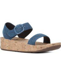 Fitflop - Bon Backstrap Wedge Sandal - Lyst