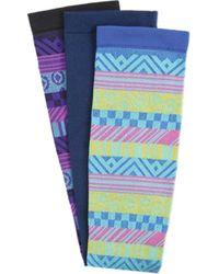 Comfortiva - Fun Stripes 12-14 Mmhg Graduated Compression Sock - Lyst