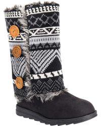 Muk Luks - Reversible Andrea Sweater Boot - Lyst