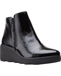 Clarks Mazy Eastham Wedge Heel Bootie - Black