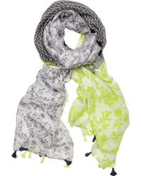 San Diego Hat Company - Woven Floral Scarf With Border Bss1732 - Lyst
