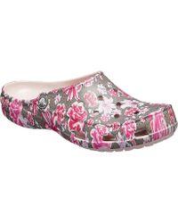 Crocs™ - Freesail Graphic Clog (multi Floral Rose Dust) Women's Clog/mule Shoes - Lyst