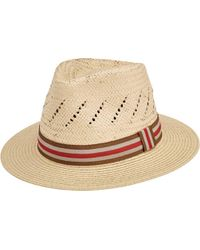 San Diego Hat Company - Paper Fedora With Striped Grosgrain Band Pbf7326 - Lyst