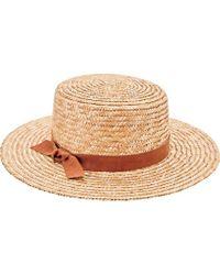 Lyst - House Of Lafayette Brigitte Cowboy Trim Hate Boater Hat in ... 6400d9d6a3f5