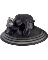 San Diego Hat Company - Poly Dress Hat With Organza Bow Drs1011 - Lyst