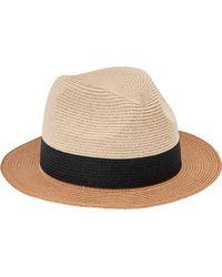 San Diego Hat Company - Fedora Colorblock Paperbraid Pbf7315 - Lyst