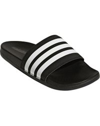 21672724cf7a76 adidas - Adilette Cloudfoam Plus Stripes Slide Sandal - Lyst