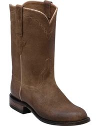Lucchese Bootmaker Bannock R Toe Cowboy Boot - Brown