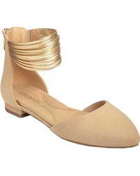 Aerosoles - Girl Talk Ankle Strap D'orsay Flat - Lyst